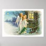 Angelic Night Carollers Print