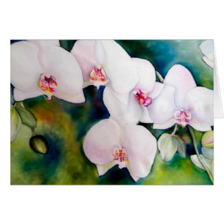 Angelic Orchids notecard, with envelope Card