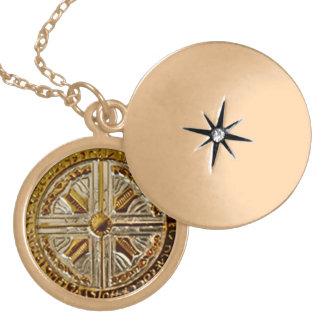Angelic Portal Key - Archangel Michael Talisman Round Locket Necklace