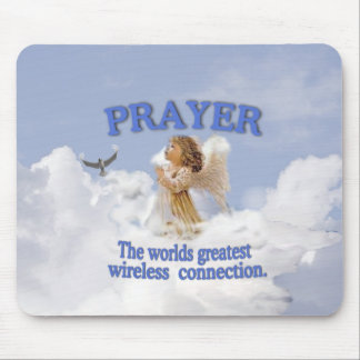 Angelic Prayer Worlds Greatest Wireless Connection Mouse Mat