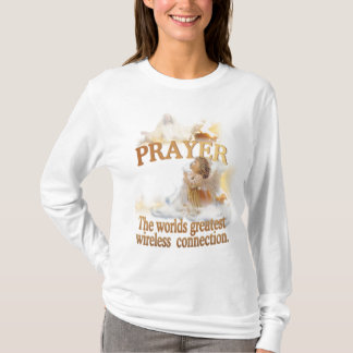 Angelic Prayer Worlds Greatest Wireless Connection T-Shirt