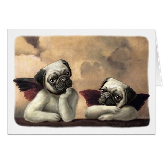 Angelic Pug Cherub Gift Items Card