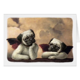 Angelic Pug Cherub Gift Items Greeting Cards