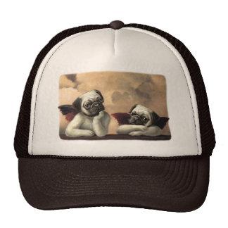 Angelic Pug Cherub Gift Items Mesh Hats