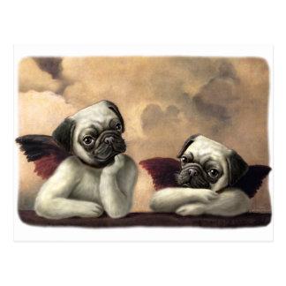 Angelic Pug Cherub Gift Items Postcards