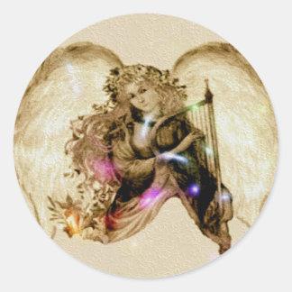 Angelic Round Sticker