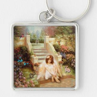 Angelic Serenity Garden Premium Keychain