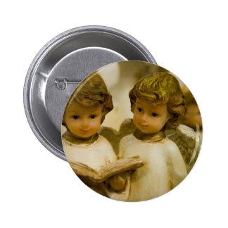 Angelic Statues 6 Cm Round Badge