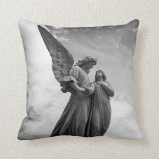Angelic Statues Throw Pillow