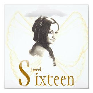 Angelic Sweet Sixteen Dream Invitation- Cust. 13 Cm X 13 Cm Square Invitation Card