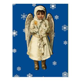 Angelic Victorian Vintage Christmas Art Cards Postcard