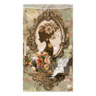 Angelic Vintage Elegant Beauty Business Cards