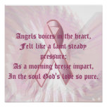 Angelic Whispers Pink Ribbon Poster - Part 2