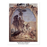 Angelica And A Shepherd By Giovanni Tiepolo Post Card