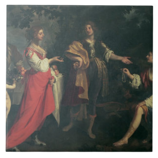 Angelica and the Moor, Medoro, 1634 (oil on canvas Tile