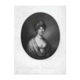 Angelica Catalani, engraved by Antoine Cardon Canvas Print