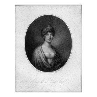 Angelica Catalani, engraved by Antoine Cardon Postcard