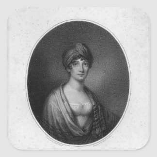 Angelica Catalani, engraved by Antoine Cardon Square Sticker