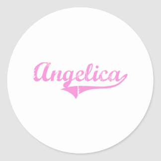 Angelica Classic Style Name Sticker