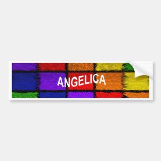 ANGELICA ( FEMALE NAMES ) BUMPER STICKER
