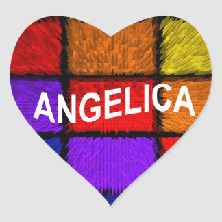 ANGELICA ( FEMALE NAMES ) HEART STICKER