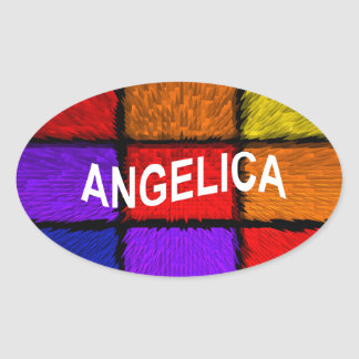 ANGELICA ( FEMALE NAMES ) OVAL STICKER