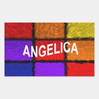 ANGELICA ( FEMALE NAMES ) RECTANGULAR STICKER