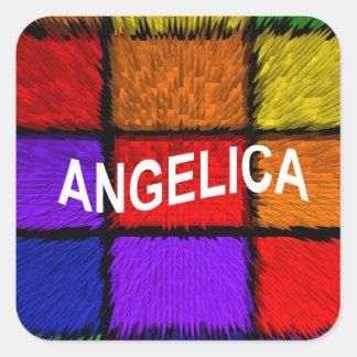 ANGELICA ( FEMALE NAMES ) SQUARE STICKER