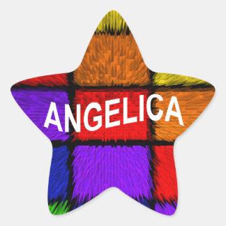 ANGELICA ( FEMALE NAMES ) STAR STICKER