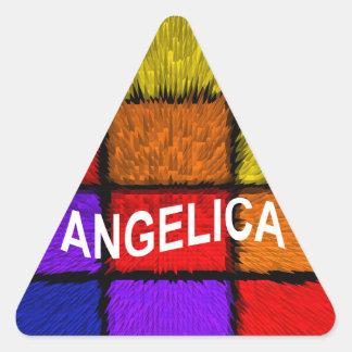 ANGELICA ( FEMALE NAMES ) TRIANGLE STICKER