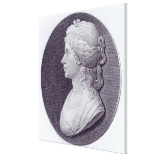 Angelica Kauffman, engraved by J.F Bause Canvas Print