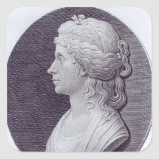 Angelica Kauffman, engraved by J.F Bause Square Sticker