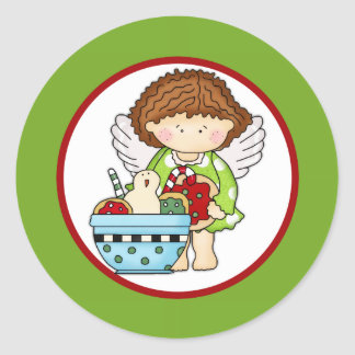 Angelica Loves Christmas Cookies d2 Sticker