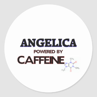 Angelica powered by caffeine stickers