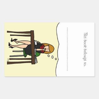 Angelica Rectangular Sticker