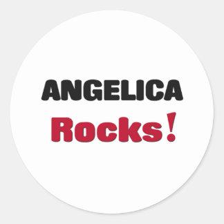Angelica Rocks Round Sticker