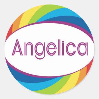 Angelica Round Sticker