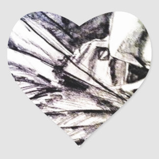 Angelica Heart Sticker