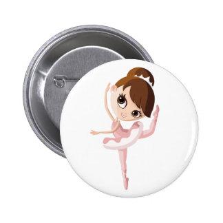 Angelina the Ballerina 6 Cm Round Badge