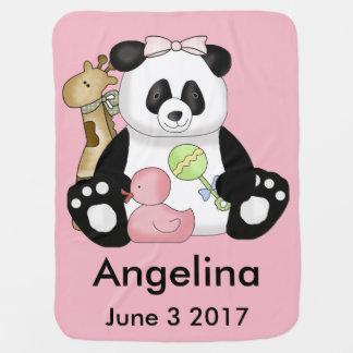 Angelina's Personalized Panda Baby Blanket