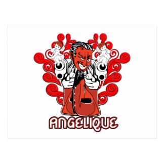 """Angelique, the Devil Made Me Do It!"" Postcard"
