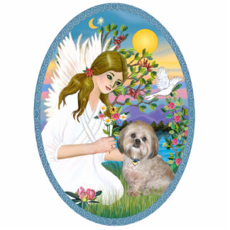 AngelLove and Lhasa Apso 11 Standing Photo Sculpture