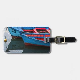 Angelmo harbor, fishing boats. luggage tag