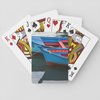 Angelmo harbor, fishing boats. playing cards