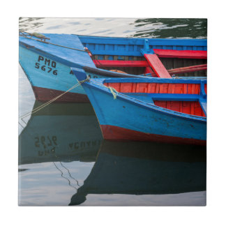Angelmo harbor, fishing boats. tile