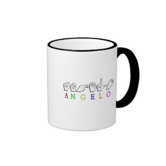 ANGELO  FINGERSPELLED ASL SIGN NAME MALE MUGS
