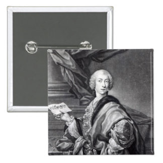 Angelo Maria Monticelli, engraved by John Faber 15 Cm Square Badge