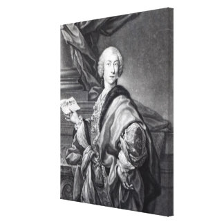 Angelo Maria Monticelli, engraved by John Faber Canvas Print