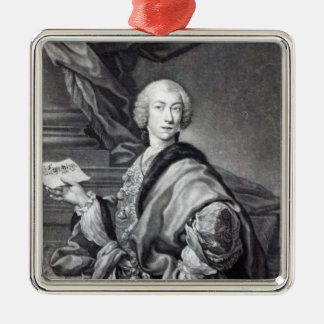 Angelo Maria Monticelli, engraved by John Faber Christmas Ornament