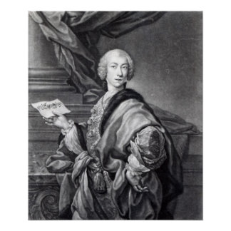 Angelo Maria Monticelli, engraved by John Faber Posters